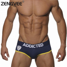 Men's Fashion Cotton Briefs Underwear Sexy Low Rise Underwear Man Brand Popular Gay Shorts-(M L XL)