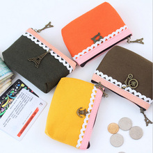 Women Small Storage Bags for Key Card Phone Coin Purse Practical Canvas Daily Little Bags Travel Accessories pouch