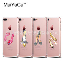 MaiYaCa The latest fashion women's shoes are hand-painted TPU Phone Case Accessories Cover For iPhone 5s 6s 7 plus case
