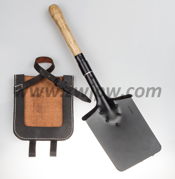 WW2 German Square Spad Military Shovel With Leather Cover Survival Tool  Household Gardening Outdoor Camping Shovel DE/10601<br><br>Aliexpress