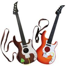 High Quality 4 Strings Music Electric Guitar Kids Musical Instruments Educational Toys For Children As New Year Gift(China)