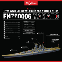 1/700 Proportion Assembly model Warship  Toys The Japanese Navy Battleship Yamato