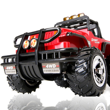 1:14 R/C car with 4 channels Scale 2WD Brushed Car Electric Rock Racer Desert Off-Road Truck with 2.4GHz Radio System(China)
