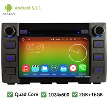 "Quad Core WIFI Android 5.1.1 1Din 8"" FM BT 1024*600 Car DVD Player Radio Stereo PC Audio Screen GPS For Toyota Tundra 2014 2015(China)"