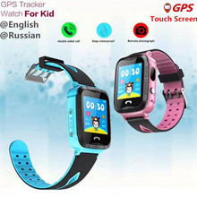 English GPS Kids Watches Baby Russian Smart Watch Children SOS Call Location Finder Locator Tracker Anti Monitor Smartwatch F43(China)