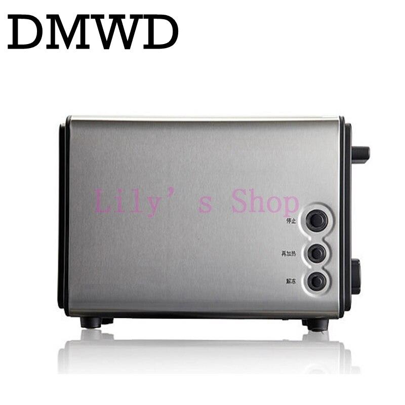 DMWD Mini electrical toaster breakfast bread baking machine automatic toast maker Sandwich breadmaker grill portable oven EU US<br>