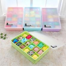 18 Cells Plastic Storage Box For Socks Ties Bra Underwear Organizer Closet Drawer Divider Storage Cases Container