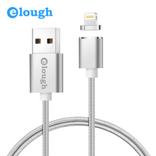 Elough E03 Magnetic Charger Cable USB Cable For 8 Pin iPhone 6 7 5 6S iPad 4 2 Mobile Phone Fast Charge Magnet Charger Cord Wire