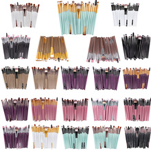 Brand 20pcs Beauty Bamboo Professional Makeup Brushes Set Make up Brush Tools kit Eye Shader Liner Crease Definer Buffer 22color