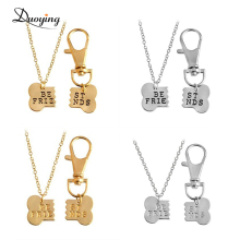 Personalized Custom Engraved Letter Dogs Bone Pet Necklace Best Friends Gifts Kechain Set Jewelry eBay Amazon Supplier