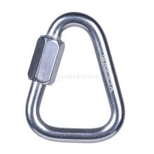60KN 316 Stainless Steel Triangle Carabiner Screw Locking Rock Climbing 10mm(China)