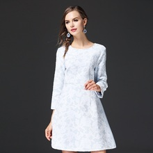 New Arrivals Fashion Women Dress Light Blue Elegant Ladies Clothes ssd056(China)