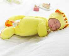 Baby doll reborn 35cm sleeping newborn babies children soft dolls can sing songs children birthday gift boneca brinquedo(China)