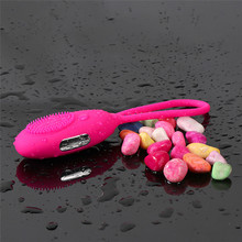 Buy Rose Red Female Vaginal Balls Pocket Vibrator USB Charging 10 Frequency Vibration G-Spot Vibration Female Orgasm Sex Game Tools.