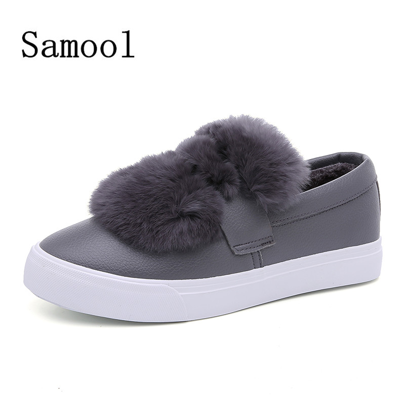 SMOOL  Womans Fashion Casual Female Flats Shoes Slip On Ladies Loafers Adult Shoes  Leather Casual Shoes For Women<br>