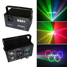 full color Laser Light Show Projector. 2000mw RGB Laser display system dmx sd card ilda 2 W