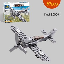 Mini Century Military FW190 FIGHTER PLANE Building Toys German Airborne troop figure Model Kazi 82005 82006