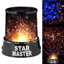 Oobest Novelty Room LED Night Light Lamp Rotary Flashing Starry Moon Sky Star Projector Table Lamp Best Gift For Children