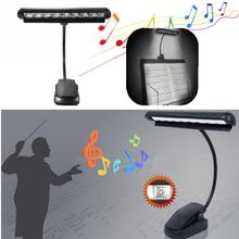 Portable Flexible 9 LEDs Clip-On Orchestra Music Stand Piano Table Lamp Kids Children Reading Led Light with US Standard Adapter