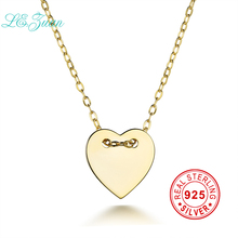 I&zuan Fashion Heart Shape Pendant Sterling Silver Jewelry Plated Yellow Gold Jewelry For Women 925 Silver Pendant Necklace(China)
