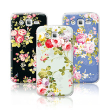 2016 Luxury Floral Painted Case For Samsung Galaxy S3 GT-i9300 Neo DUOS i9300i Cover Art printed Flower Cell Phone Case+Free Pen