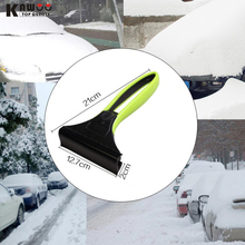 KAWOO free shipping Car Snow Shovel With Silica Gel Car Snow Removal Deicing ABS Ice Shovel  Snow Remove Tool 21*12.7cm