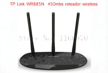 TP Link Wireless Router TL-WR885N Roteador Wireless 450Mbs 3 Wi-fi Antenna Roteador Adsl Networking Wifi Router Free Shipping