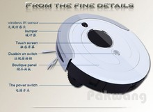 Pakwang robot vacuum cleaner for home A380, (Sweep,Vacuum,Mop,Sterilize), wireless remote control, long working time