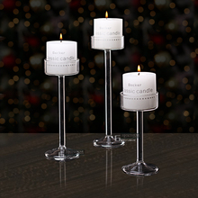 New Style 2017 Classic Glass Candle Holder Wedding Bar Party Home Decor Decoration Fashion Candlestick Goblet Tall Candlesticks(China)