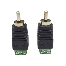 5pcs RCA connector 2 poles CCTV camera Phono RCA male Plug to AV Balun Terminal Video adapter  TV/CCTV wire connector