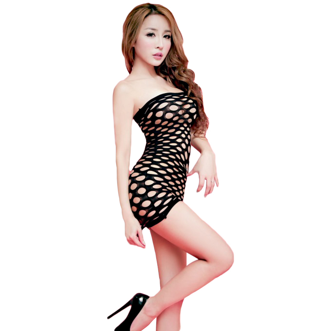 2016 New G-String fantasias sexy erotic Gridding Underwear Women sexy costumes mesh body stocking dresses langeri sexy erotic(China)