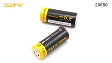 STOCK Aspire 26650 Battery INR 26650 3.7V Li-ion Super High Discharge 4300mah Ecig Batteries Aspire 26650 Cell Hybrid IMR 2pcs