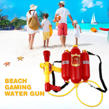 Child Summer Beach Gaming Water Gun Kids Outdoor Super Soaker Blaster Fire Backpack Pressure Squirt Pool Toy Brithday Xmas Gifts