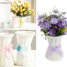 S-home 1Pc Artificial Rattan Vase Flower Fruit Candy Storage Basket Garden Party Decor MAR14(China)