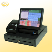 POS1201 POS Terminal Cheap Restaurant POS Machine All In One POS System With POS Software(China)