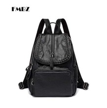 FMBZ prepared leather mother bag 2018 new shoulder bag light ladies bag fashion light ladies backpack free shipping(China)