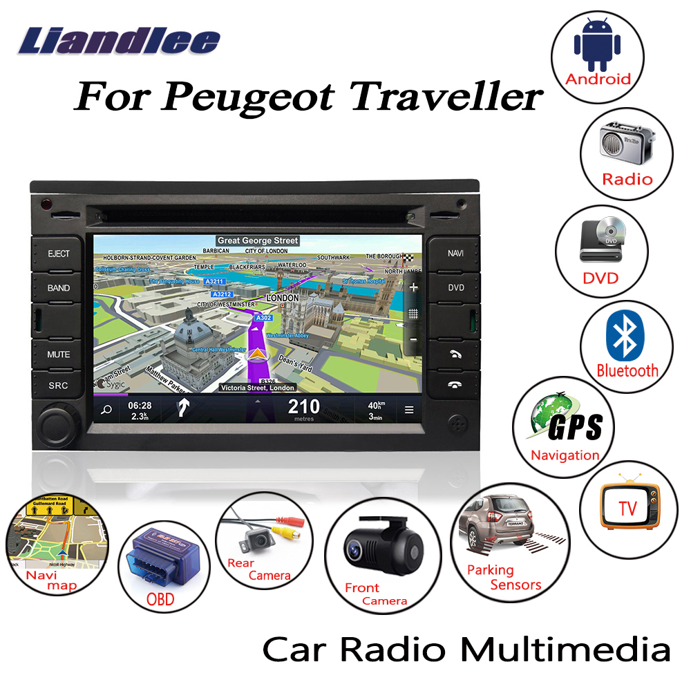 Liandlee For Peugeot Traveller 2007~2015 Android Car Radio CD DVD Player GPS Navi Navigation Maps Camera OBD TV Screen Multimedia1