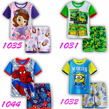 Summer Kid Girls Sofia new Suits hot sell Pajamas Children's Princess Pyjamas Family Clothing set Baby Printed Sleepwear
