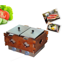 Double-cylinder 1pc Spicy electric machine string of incenses Oden pot cooking stove commercial snack machine connected device(China)
