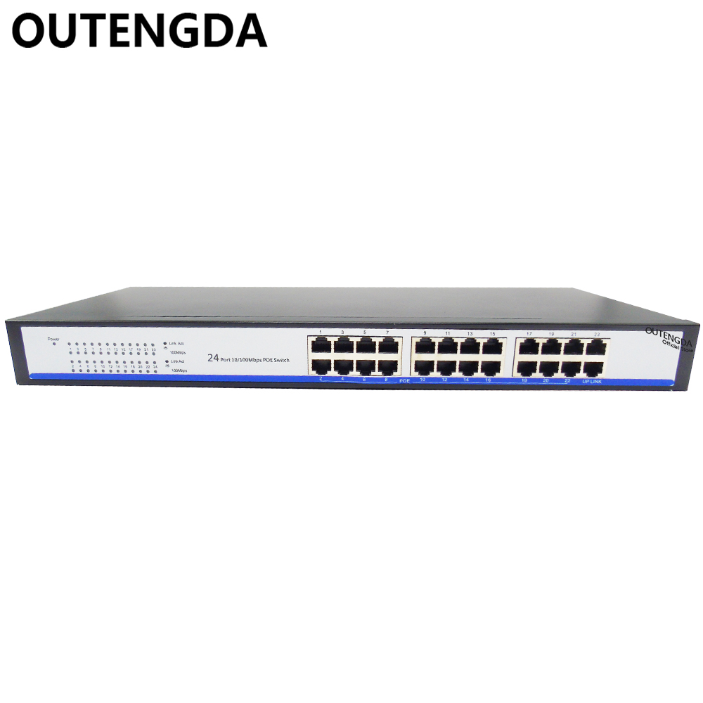 2017 New 24 Ports 10/100m Poe Switch 24V Power over Ethernet with 23 POE Ports and 1 Uplink for Wifi ap, IP camera etc(China)