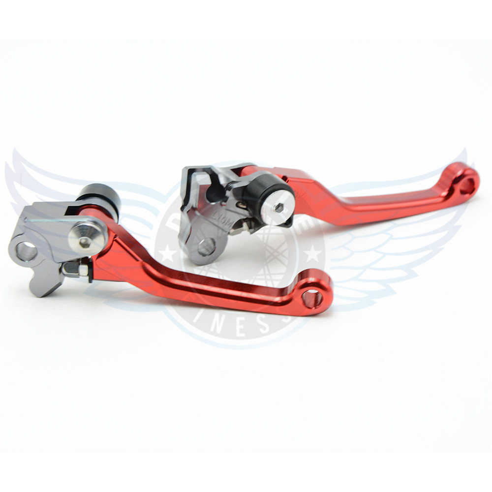 red  motorcycle accessories Pivot Brake Clutch Levers cnc brake clutch lever For Kawasaki KLX125 D.TRACKER 125 2010 2011 2012<br><br>Aliexpress