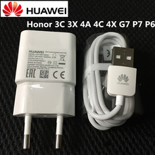 Original HUAWEI Charger Honor 3C 3X 4A 4C 4X G7 P7 P6 Mobile Phone Usb Wall Adapter with Micro Usb Data Cable(China)