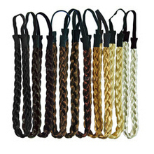 TS 5pcs Fashion Women Girl Synthetic Hair Plaited Plait Elastic Headband Hairband Braided Band Hair accessories Bohemian Style