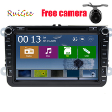8 inch FOR VoLlkswagen Passat Golf Jetta Polo Tiguan carro DVD of navigation GPS com Canbus 2 din android(optinal) car Russia PC()