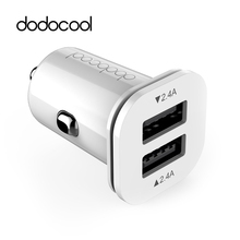 dodocool 24W 4.8A Dual Port USB Car Charger Mini Universal Fast Smart Car-Charger For Apple iPhone 7 LG Samsung Xiaomi Phone PC