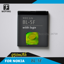 BL-5F Battery / BL 5F li-ion rechargeable Battery for 6290/E65/N93i/6210/N96/6210S/6710N/N95 Mobile Phone 30pcs/lot