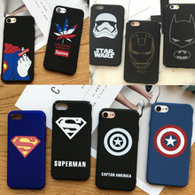 NEW Fashion Batman iRon Man Super Man Hero Captain America Superman Spiderman Shield Case for Iphone 5 SE 6 6s 7 plus phone case