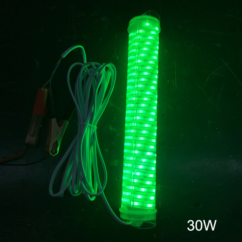 20W 30W Led Green Underwater Submersible Fishing Light Boat Squid Fish Lamp 0DS