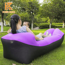 Hangout Light Weight Inflatable Sleeping Bag Large Bean Bag Inflatable Lounge Chair Comfortable Seat Sofa Air Sofa sleep Bag(China)