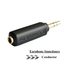 Conductor Earphone Impedance Plug 75 150 200 ohm Noise Cancelling Adapter 3.5mm Jack Professional Reduce Noise Filter Plug(China)